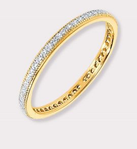 Stackable CZ Eternity Band Gold Plated