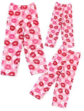 Fuzzy  Flurry XO XO Lips Pajama Pants