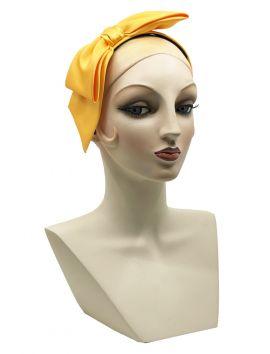 Brianna Marigold Satin Bow Headband