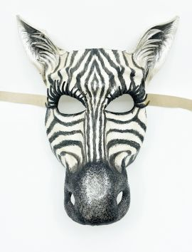 Zebra Leather Mask